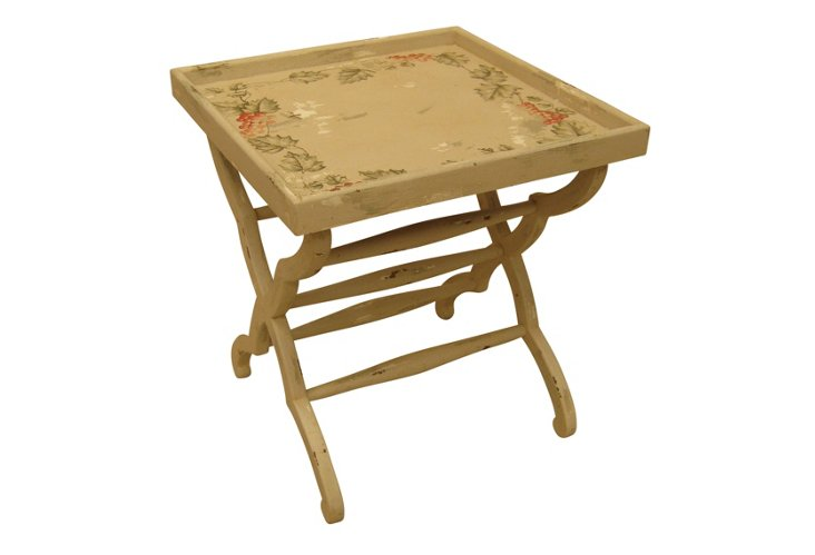 Reynolds Tray Table, Floral/Cream