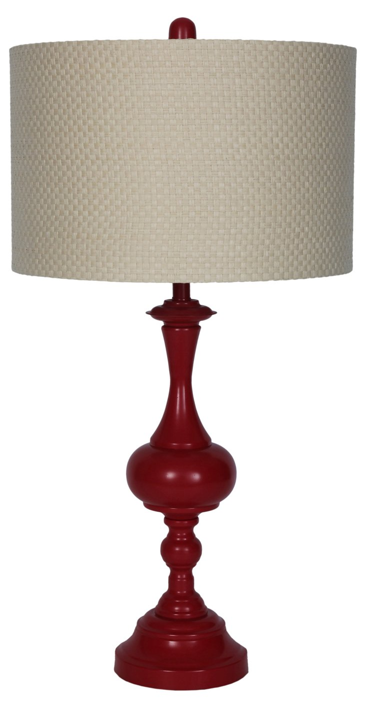 Fabien Table Lamp, Red