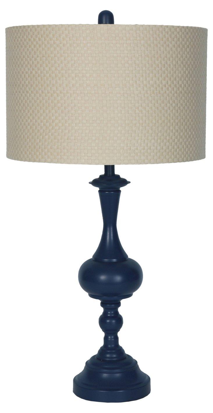 Fabien Table Lamp, Navy