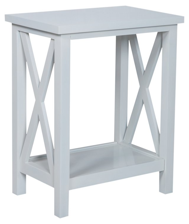 Axel Side Table, White