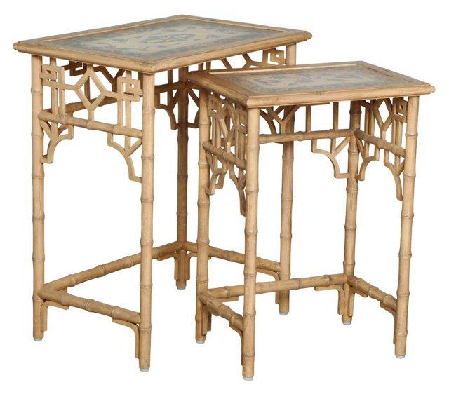 Kat Bamboo Nesting Tables Set