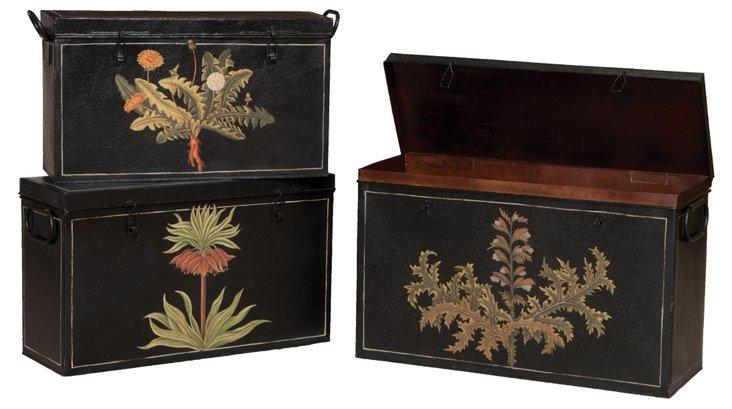 Garden Tin Boxes, Asst. of 3