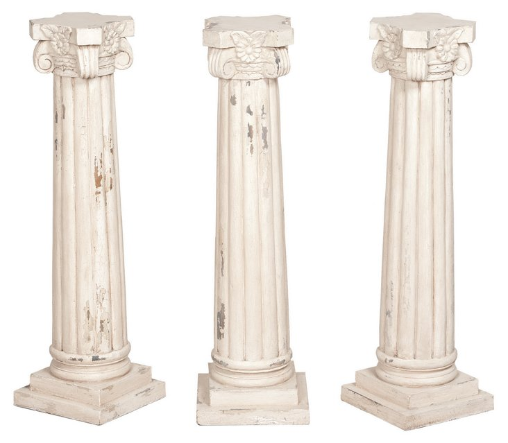 Column Candle Stands, S/3