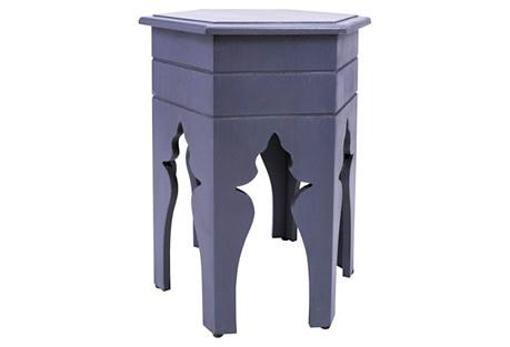 Lillian Hexagonal Accent Table, Blue