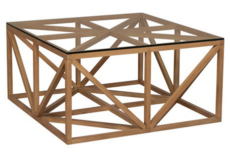 Axes Square Coffee Table, Natural
