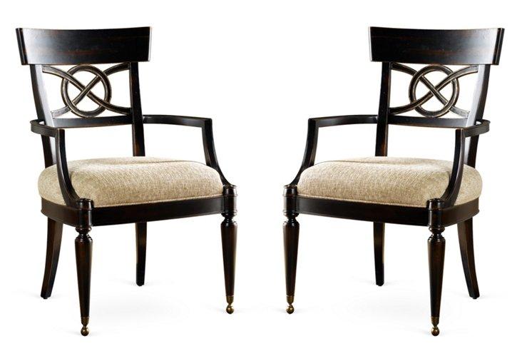 American Kaleidoscope Armchair, Pair