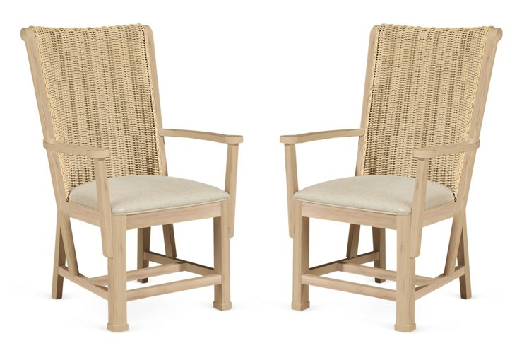 Outside In Crofters Armchair, Pair