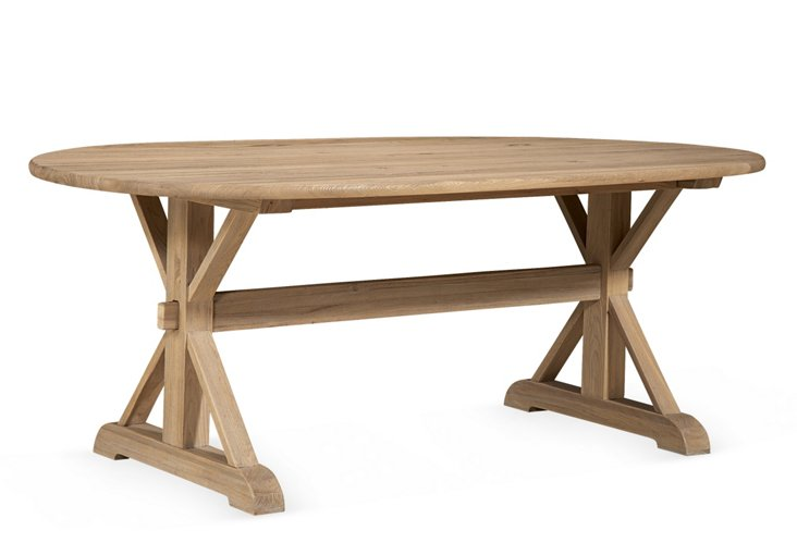 Outside In Dining Table, Driftwood