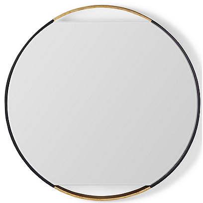 Juliette Round Wall Mirror, Black/Gold