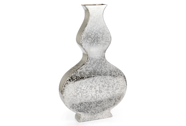 "31"" Mottled Metallic Vase"