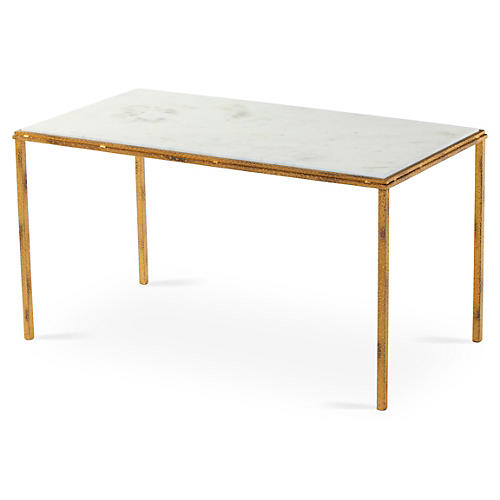 Griffith Marble Coffee Table, White