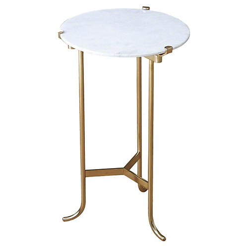 Small Leo Side Table, White