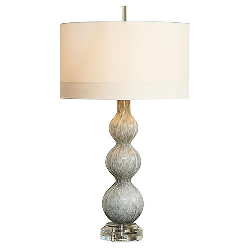 Cloud table lamp light gray