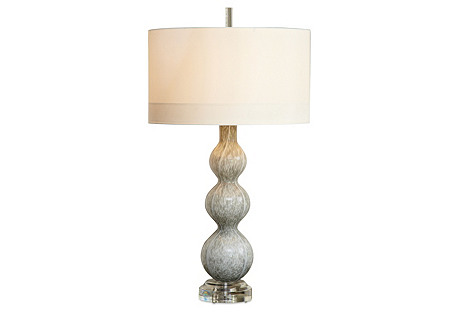 Cloud Table Lamp, Light Gray