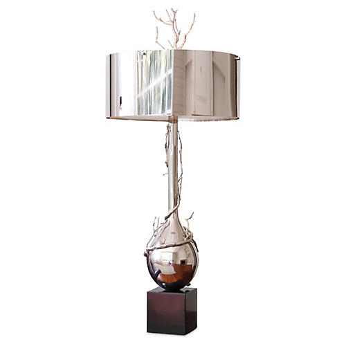 Twig Bulb Lamp, Nickel