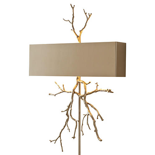 Twig Hardwired 2-Light Sconce, Nickel