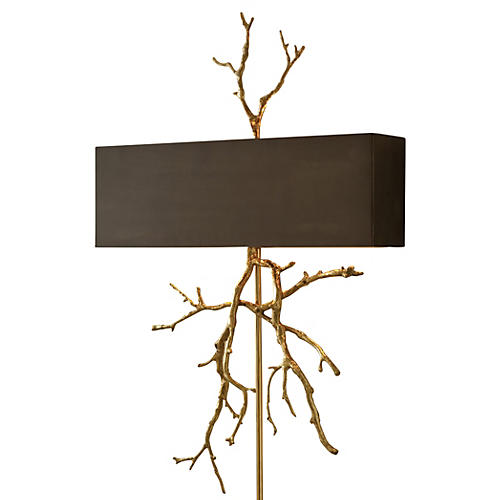 Twig Hardwired 2-Light Sconce, Brass