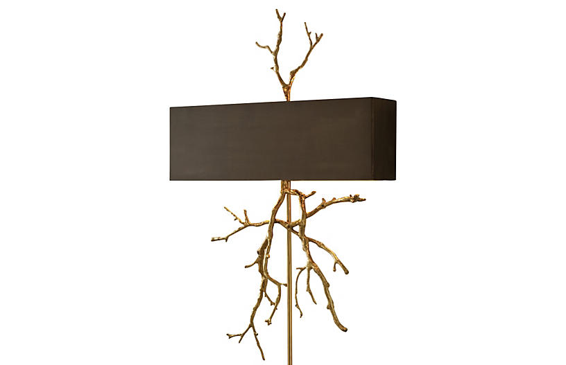 Twig Hardwired 2-Light Sconce - Brass - Global Views