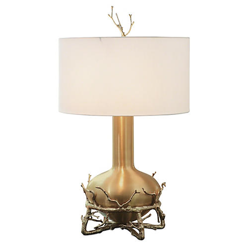Fat Twig Table Lamp, Brass