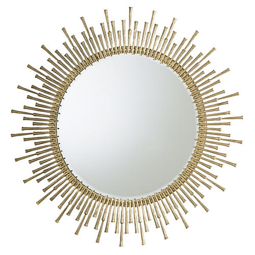 "Spike 42"" Wall Mirror, Gold"