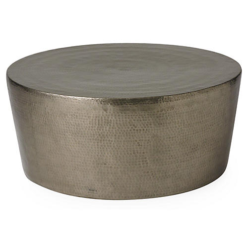 "Izmir 48"" Coffee Table, Silver"