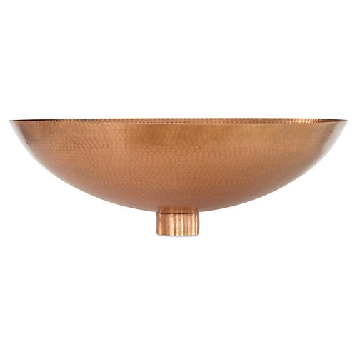 Indira Wall Bowl, Copper