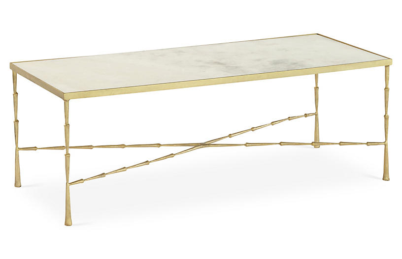 Spike Coffee Table with White Marble - Global Views