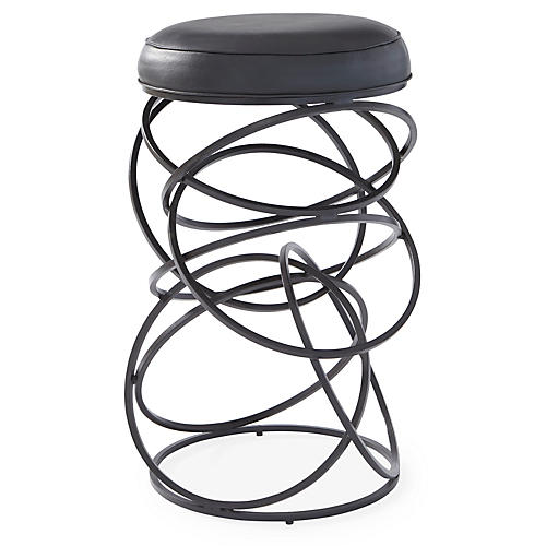 Ring Barstool, Black