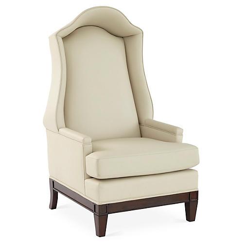 Bonnet Leather Wingback Chair