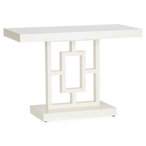 Grid Block Console, White