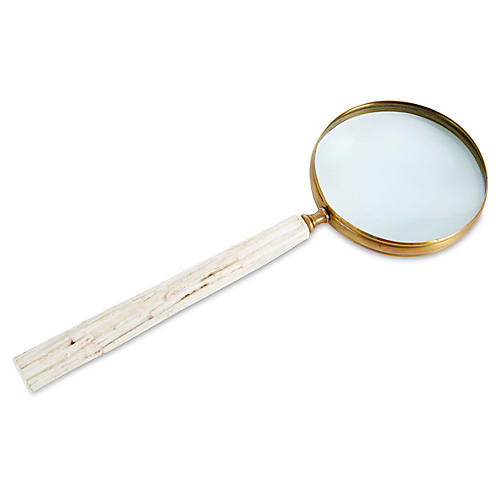 "17"" Chiseled Bone Magnifying Glass"