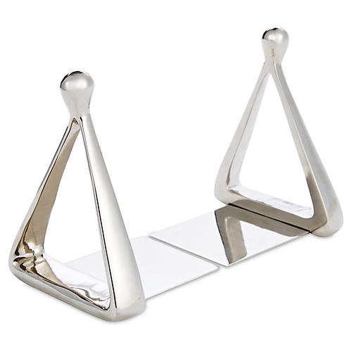 S/2 Stirrup Bookends, Nickel
