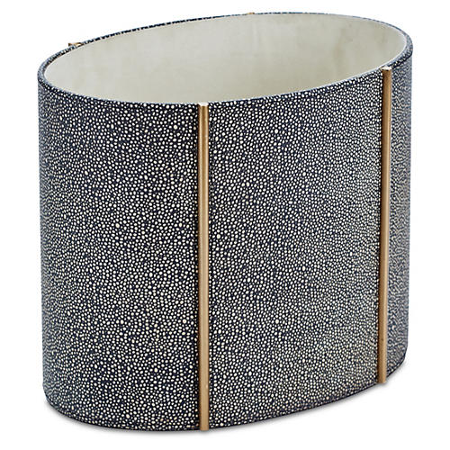 Shagreen-Style Churchill Wastebasket