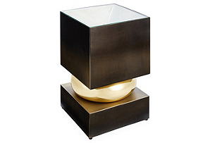 Squeeze Side Table, Bronze