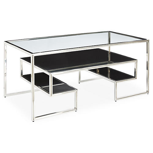 One-Up Coffee Table, Silver