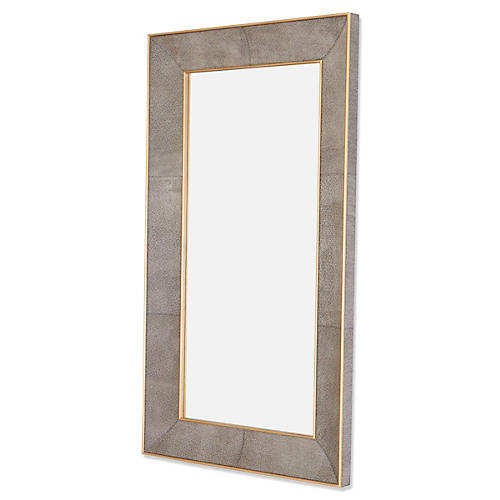 "Samantha 48""x84"" Floor Mirror, Brown"