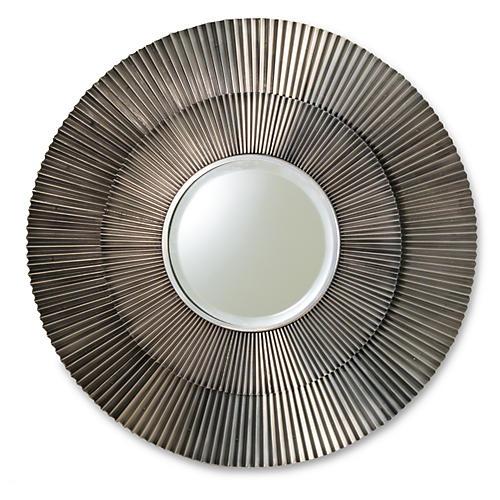 """Morgan 41"""" Wall Mirror, Antiqued Nickel"""