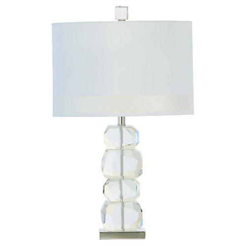Stacked Gemstone Table Lamp, Clear