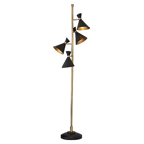 Dwell Cone Floor Lamp, Bronze