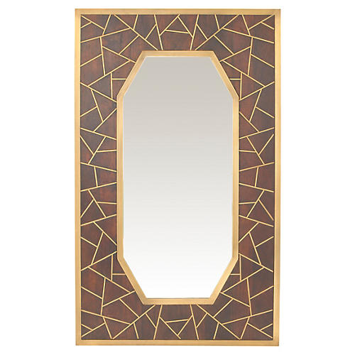 """Tangier 34""""x56"""" Oversize Mirror, Dark Brown"""