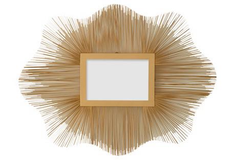 Wire Sunburst Mirror, Gold