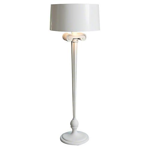 Ionic Floor Lamp, White