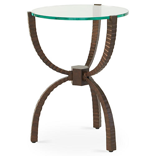 Teton Round Side Table, Bronze