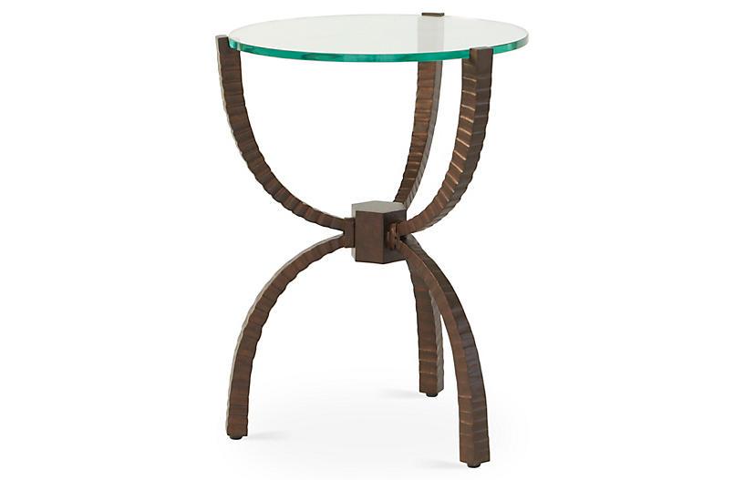 Teton Round Side Table, Bronze