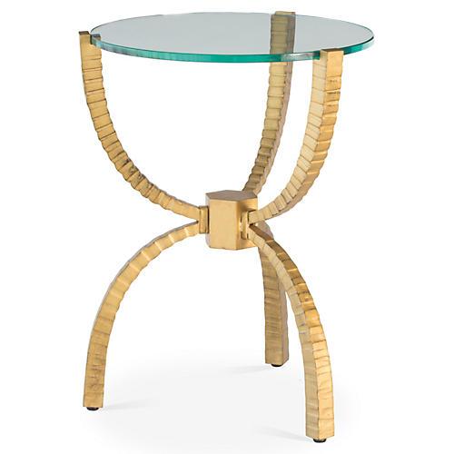 Teton Round Side Table, Gold