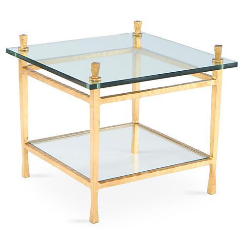 Quad Pod Side Table, Gold Leaf