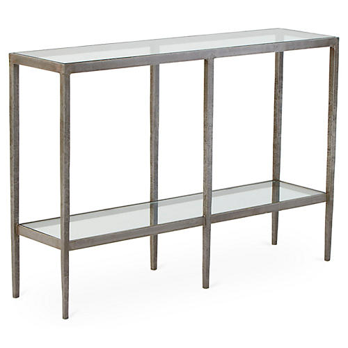 "Laforge 46"" Console, Braised Silver"