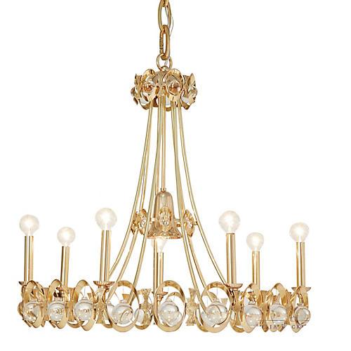 Jewel Tangle Chandelier, Polished Brass