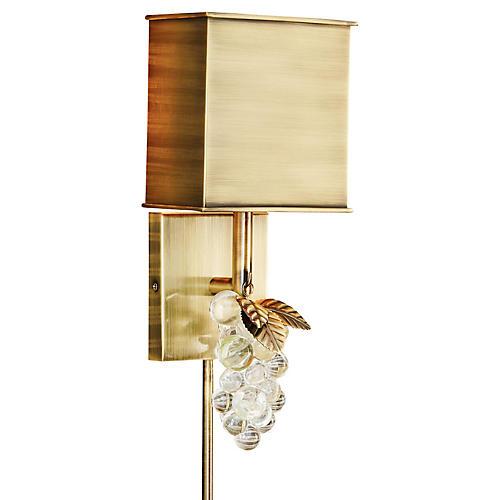 Princess Sconce, Antiqued Brushed Brass