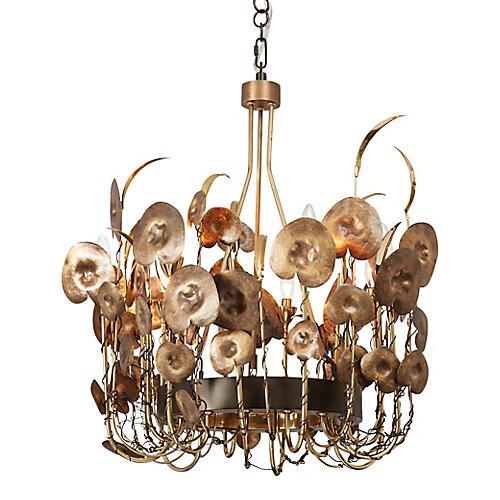 Lilium Chandelier, Brass/Bronze